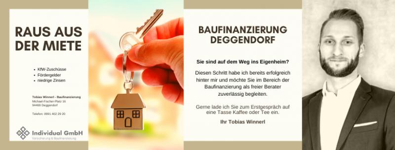 Baufinanzierung Deggendorf - Tobias Winnerl
