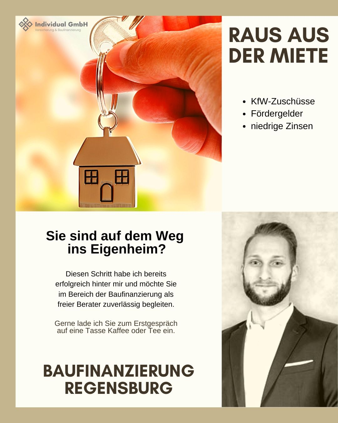 Baufinanzierung Regensburg - Tobias Winnerl - Raus aus der Miete